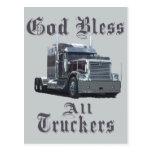 God  Bless All Truckers Postcard
