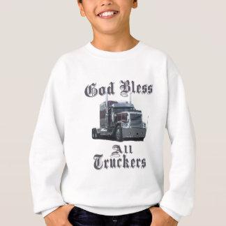 God Bless All Truckers Sweatshirt