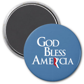 God Bless Amercia.png 3 Inch Round Magnet