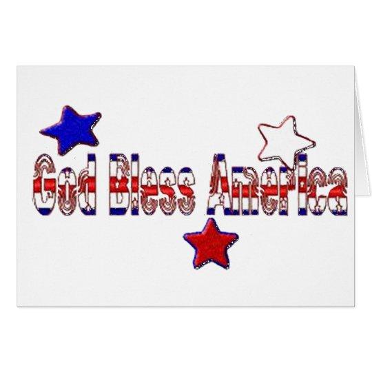 God Bless America 2 Card