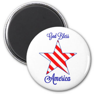 God Bless America 2 Inch Round Magnet