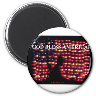 GOD BLESS AMERICA 2 MAGNET