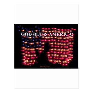 GOD BLESS AMERICA 2 POSTCARD