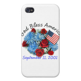 God Bless America, 9/11 Memorial Iphone Case Covers For iPhone 4