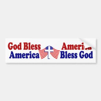 God bless America - America bless God Bumper Sticker