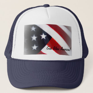 God Bless America American Flag Hat