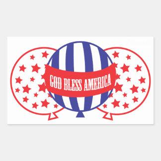 God Bless America balloons Rectangular Sticker