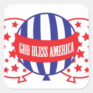 God Bless America balloons Square Sticker
