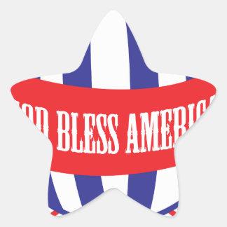 God Bless America balloons Star Sticker