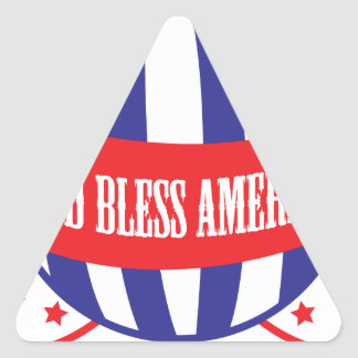 God Bless America balloons Triangle Sticker