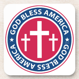 God Bless America Beverage Coaster