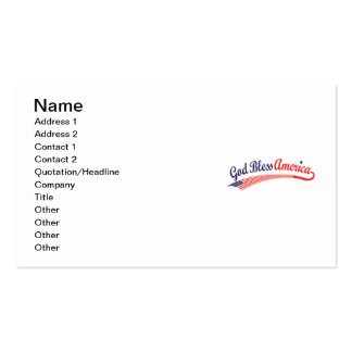 God Bless America Business Card
