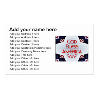 God bless America Business Card Template