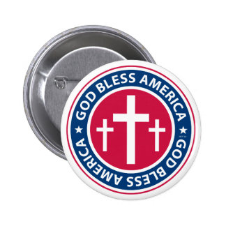 God Bless America Pinback Buttons