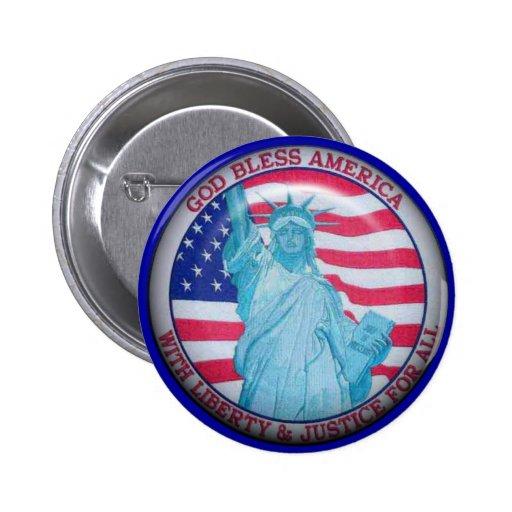 God Bless America Button