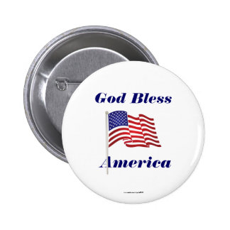 God Bless America Button/Lapel Pin