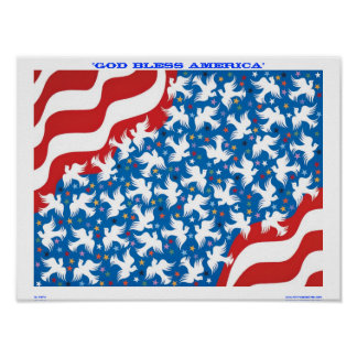 """""""GOD BLESS AMERICA"""" by Metin Poster"""