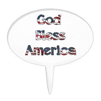 God Bless America Cake Topper