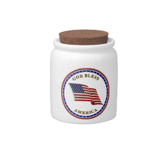 God Bless America Candy Dishes