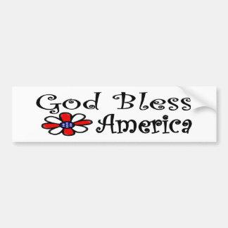 God Bless America Car Bumper Sticker
