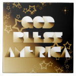 God Bless America Ceramic Tiles