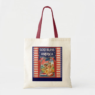 God Bless America, children and drums Budget Tote Bag