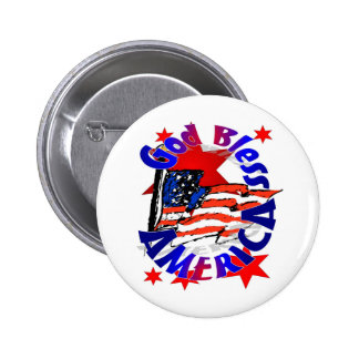 God Bless America Christian Pins