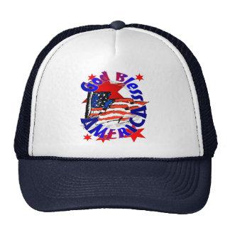 God Bless America Christian Trucker Hat