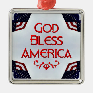 God bless America Christmas Tree Ornaments