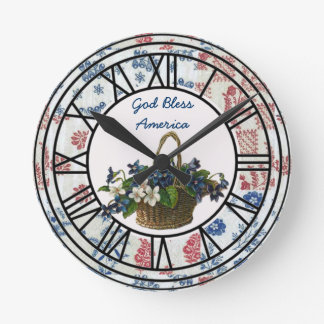 God Bless America Clock