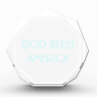 GOD BLESS AMERICA - CUSTOMIZABLE ACRYLIC AWARD