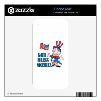 God Bless America Decal For iPhone 4S
