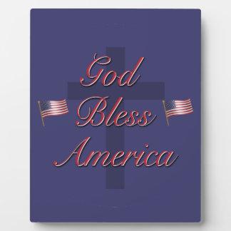 God Bless America Display Plaque