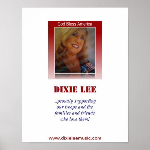 God Bless America - Dixie Lee Poster