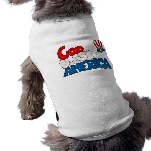 GOD BLESS AMERICA DOG SHIRT