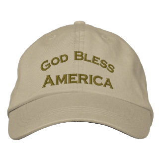 God Bless America Embroidered Patriotic Hat