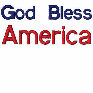 God Bless, America Embroidered Shirt