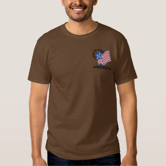 God Bless America Embroidered T-Shirt