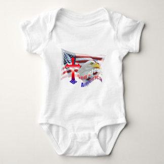 God Bless America Flag Baby Bodysuit