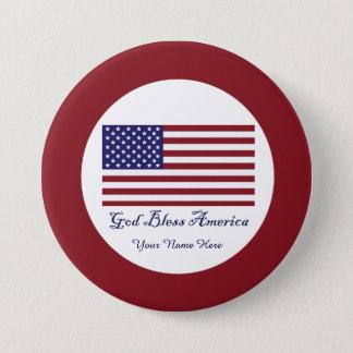 God Bless America Flag Button