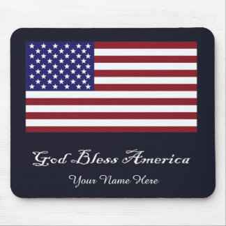 God Bless America Flag Mouse Pad