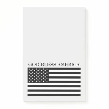 USA Themed God Bless America Flag Notes
