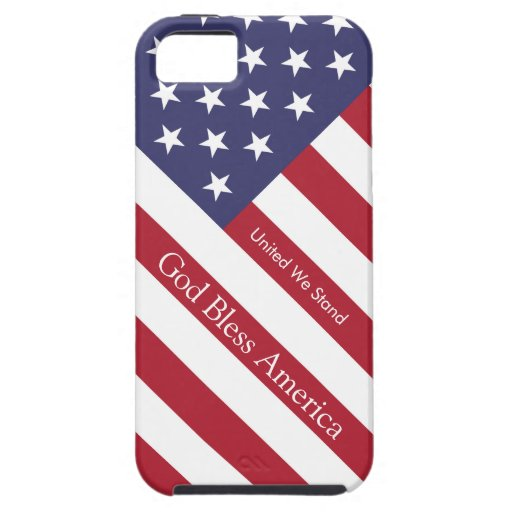God Bless America Flag Personalized iPhone 5 Case