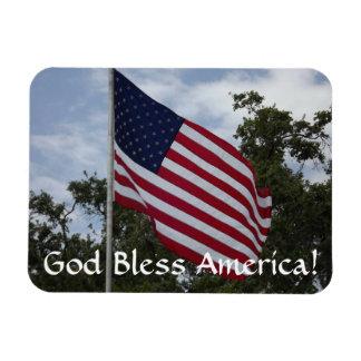 God Bless America Flag Rectangular Photo Magnet
