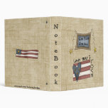 God Bless America Flag Stars Notebook Binder