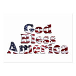 God Bless America Flag Text Design Large Business Cards (Pack Of 100)