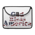 God Bless America Flag Text Design MacBook Pro Sleeves