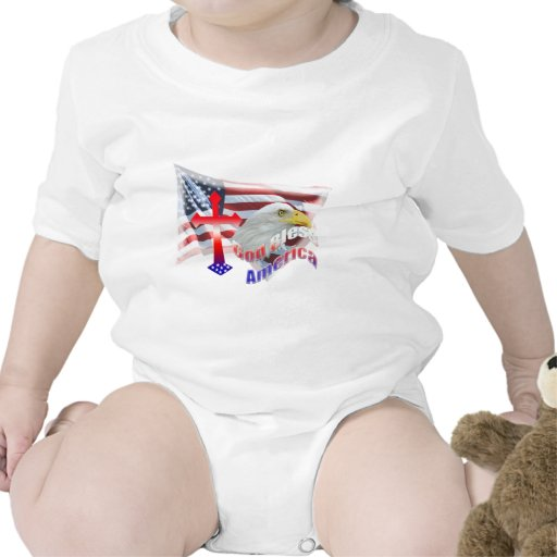 God Bless America Flag Tshirt