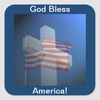 God Bless America!  Gifts and Clothes Square Sticker