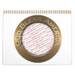 God Bless America Gold Photo Frame Calendars